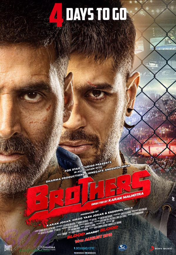Brothers movie first poster with countdown for first trailer