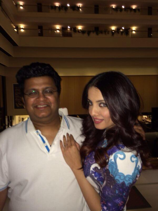 Celina Jaitly with Tanuj Garg in an event