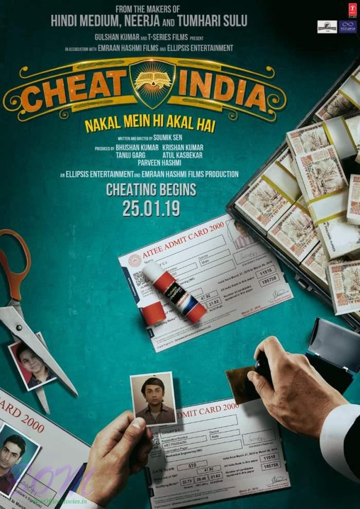 Emraan Hashmi starrer Cheat India movie teaser poster