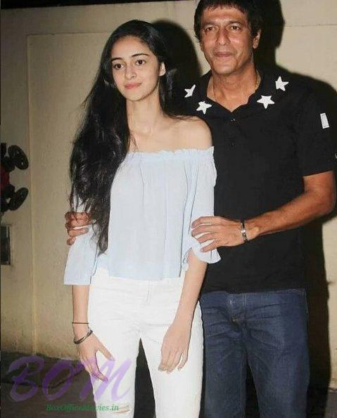 Chunky Panday with his beautiful daughter Ananya Panday