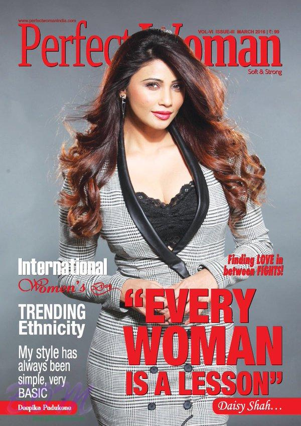 Daisy Shah cover girl for Perfect Woman March 2016 issue