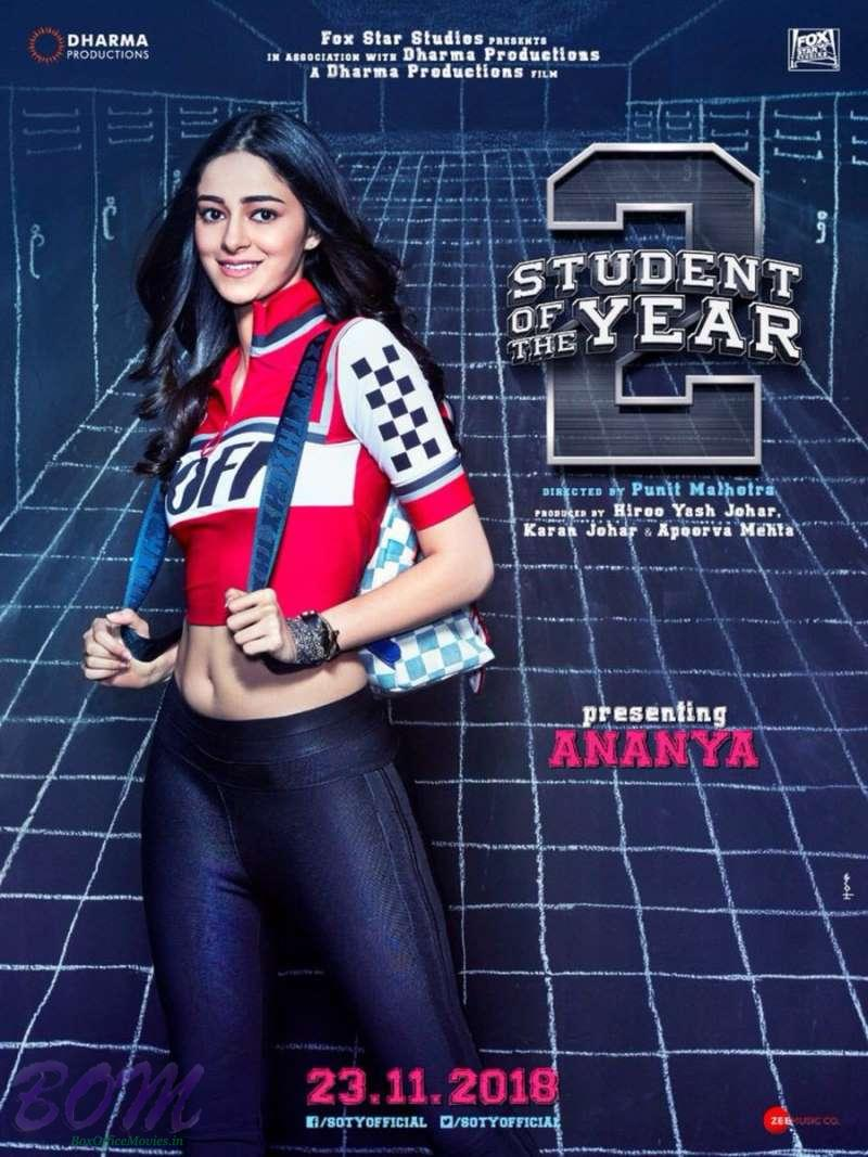 Debutant Ananya starrer Student of the year 2 poster