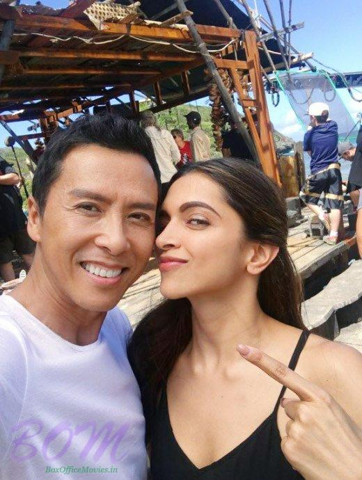 Deepika Padukone and Donnie Yen's selfie from the sets of XXX The Return of Xander Cage
