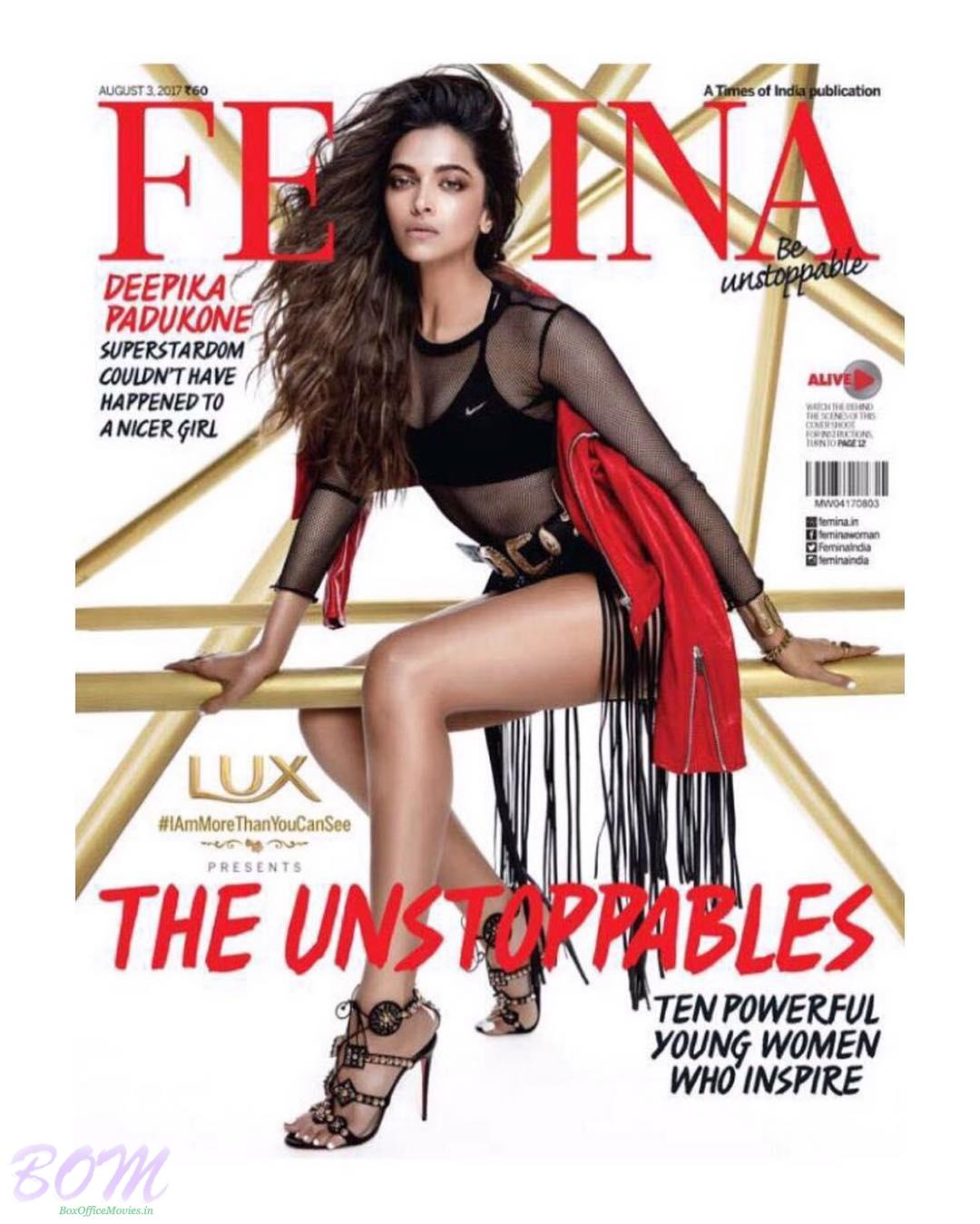 Deepika Padukone as cover girl for FEMINA August 2017 issue