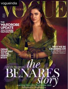 Deepika Padukone cover girl for Vogue India Magazine Nov 2016