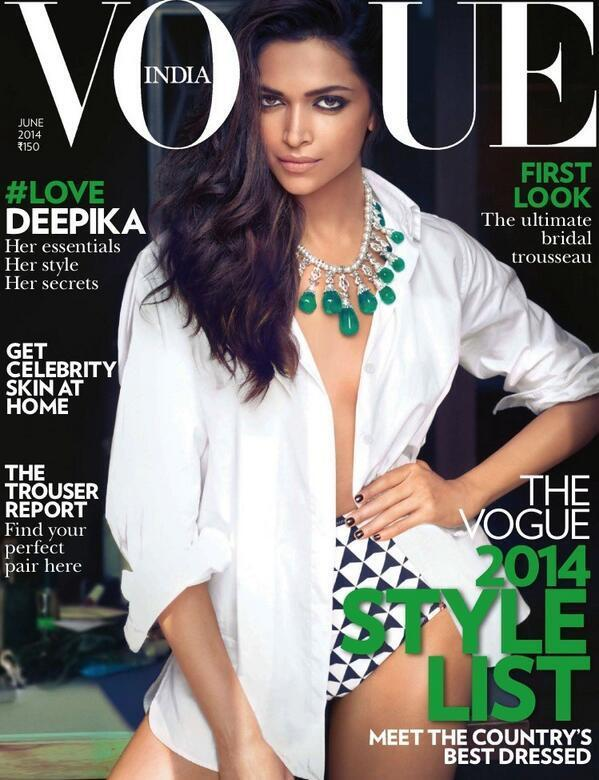 Deepika Padukone strips down for Vogue India - Issue June 2014