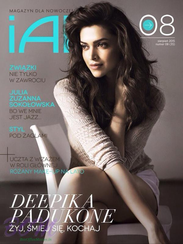 Deepika on the cover of Polish magazine for August 2015 issue