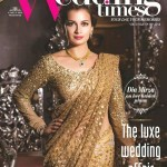 Dia Mirza look gorgeous in Sabya Mukherjee for Wedding Times Magazine September issue