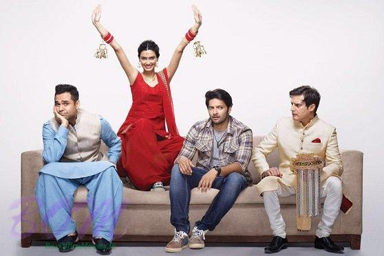 Happy Diana Penty with Abhay Deol, Jimmy Shergill and Ali Fazal