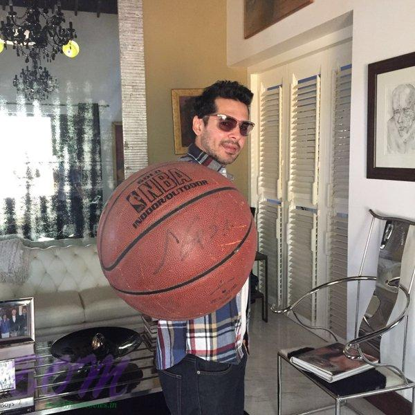 Dino Morea pic just before a basket ball friendly game