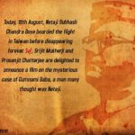 Director Srijit Mukherji announces a film on Netaji Subhash Chandra Bose
