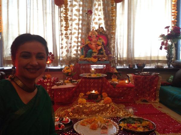 Divya Dutta beautiful celebration of GOD Ganesha