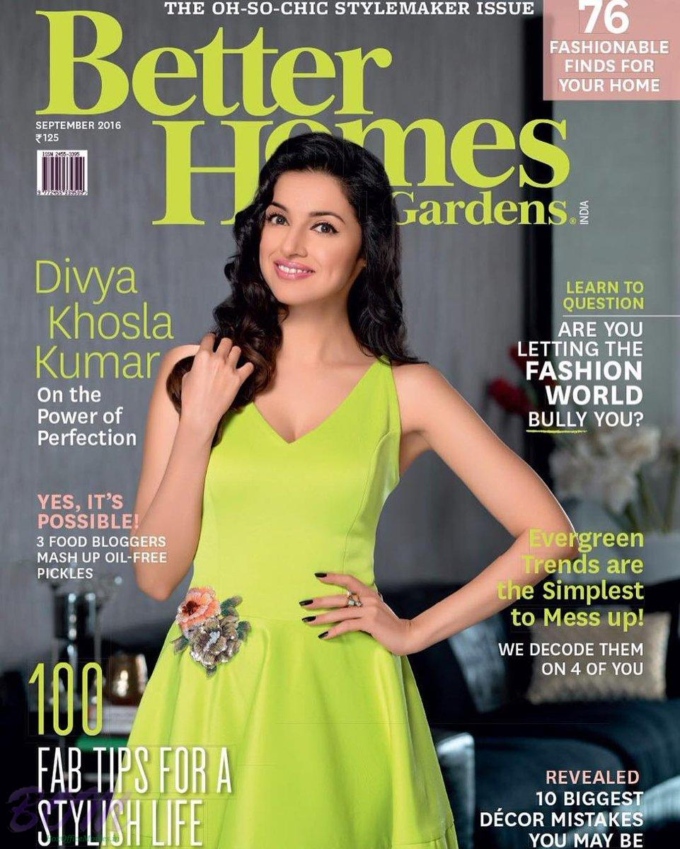 Divya Khosla Kumar Cover Girl Sep 2016 for Better Homes and Gardens
