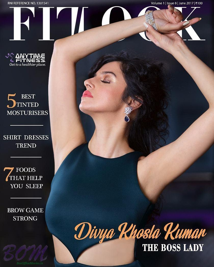 Divya Khosla Kumar cover girl for Fit Look Magazine June 2017 issue