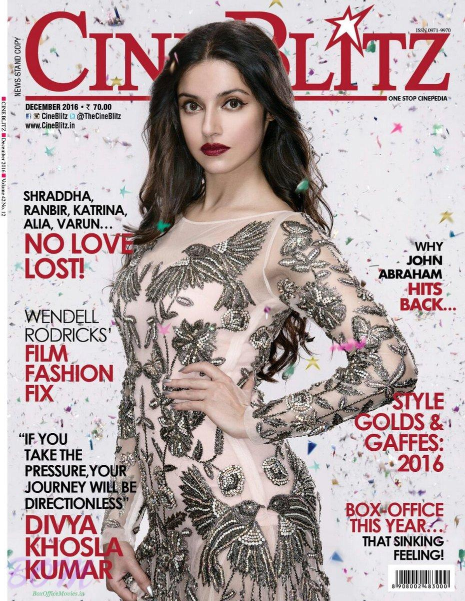 Divya Khosla cover girl for CineBlitz Magazine December 2016 issue
