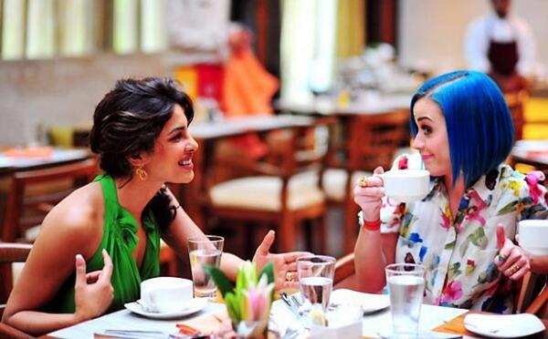 Don't they lool great together. Guess who is in coffee table with Priyanka Chopra - KatyCats