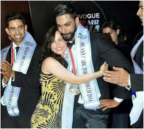 Elli Avram - A picture of me with my super big happy smile like a kid hugging Mr. India!