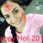 Elli Avram wishing Happy Holi 2015
