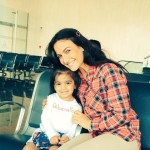 Elli Avram with little Doll - really touched my heart at Indore airport