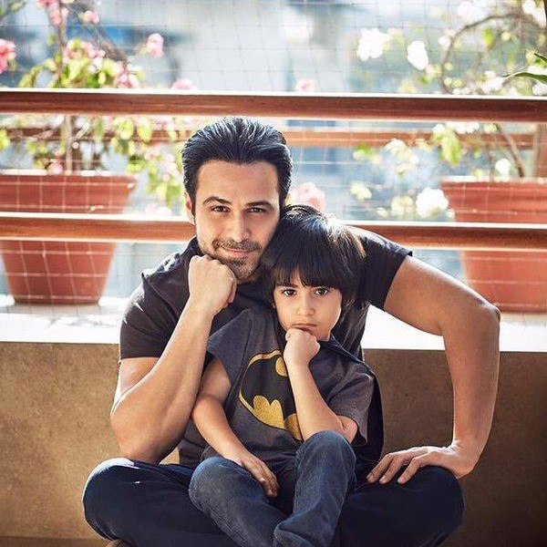 Emraan Hashmi with his son Ayaan Hashmi