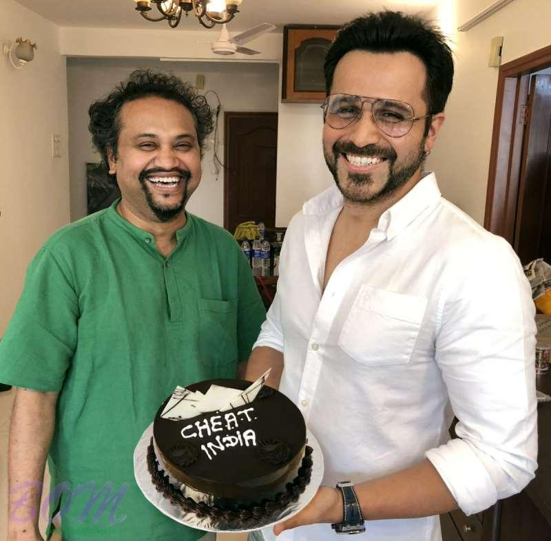 Emraan Hashmi with the director of Cheat India movie