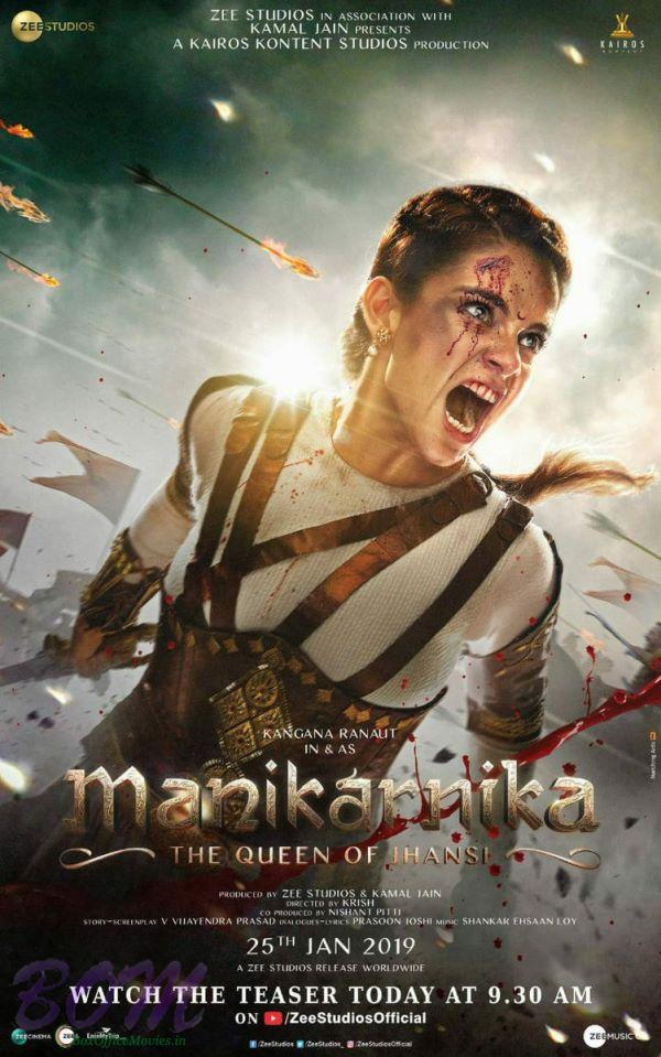 Enthralling Kangana Ranaut in Manikarnika - The Queen of Jhansi teaser picture
