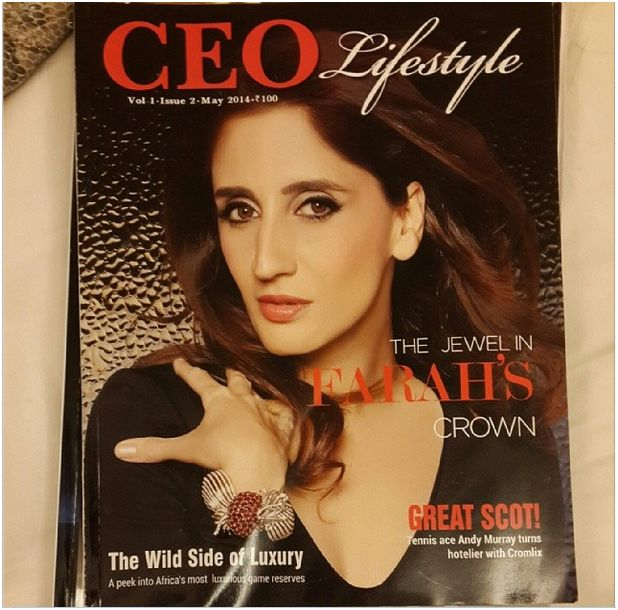 Farah Khan Ali CEO lifestyle magazine cover. May 2014 issue