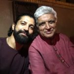 Farhan Akhtar with Father Javed Akhtar
