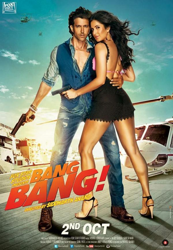 First Look Poster of Bang Bang starring Hrithik Roshan & Katrina kaif released on 9 Sep 14