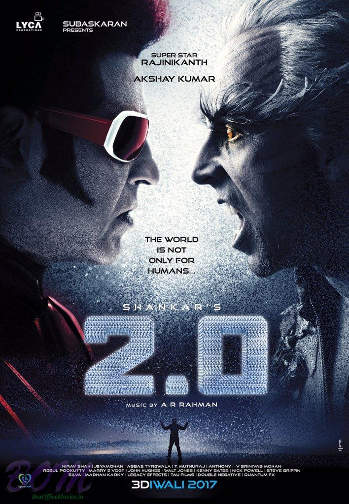 First Poster of upcoming 2.0 movie starring Rajinikanth and Akshay in lead roles