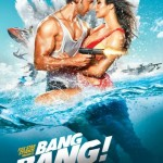 Bang Bang movie poster featuring Hrithik and Katrina in water