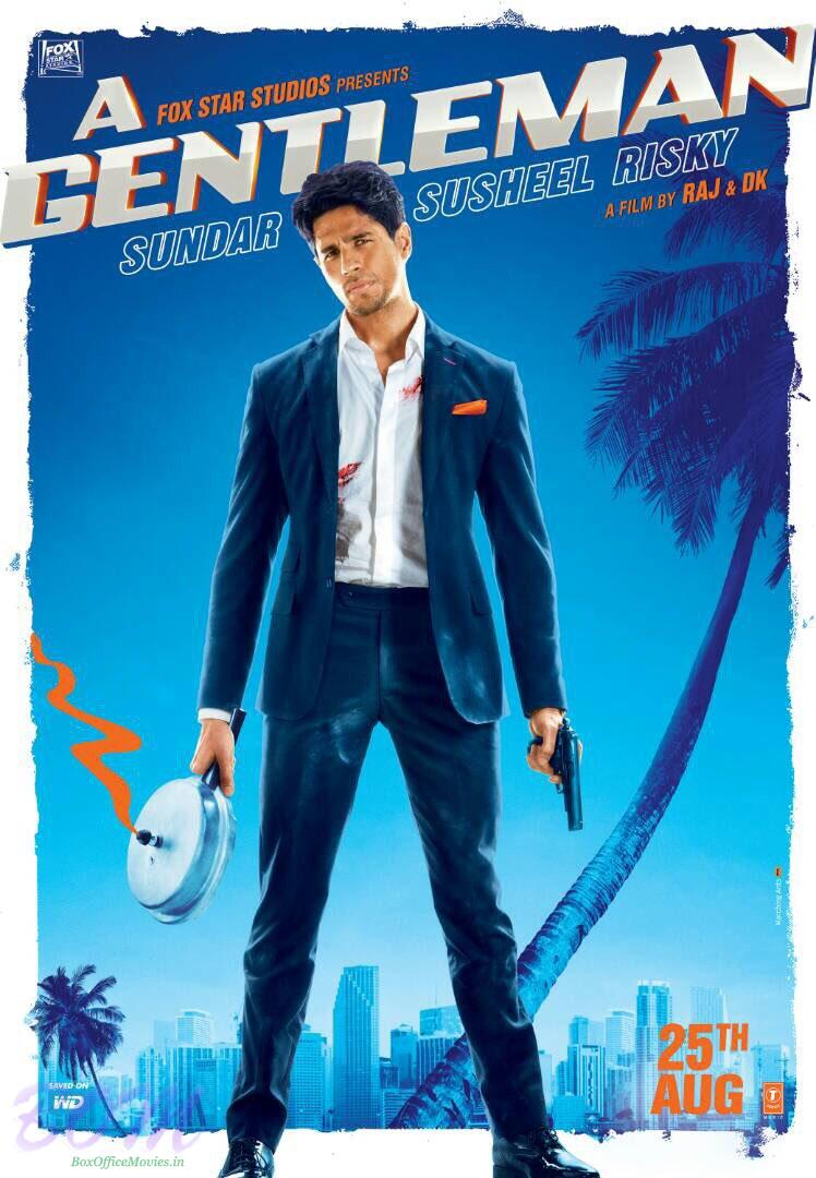 First look poster of Siddharth Malhotra starrer A Gentleman