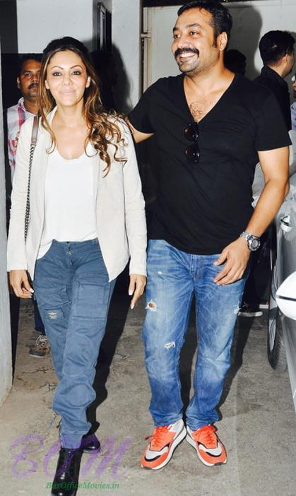 Gauri Khan dropped in the house with Director Anurag kashyap on Bombay Velvet screening