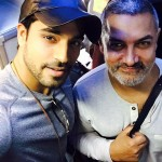 Gautam Gulati selfie with Aamir Khan in his Dangal look