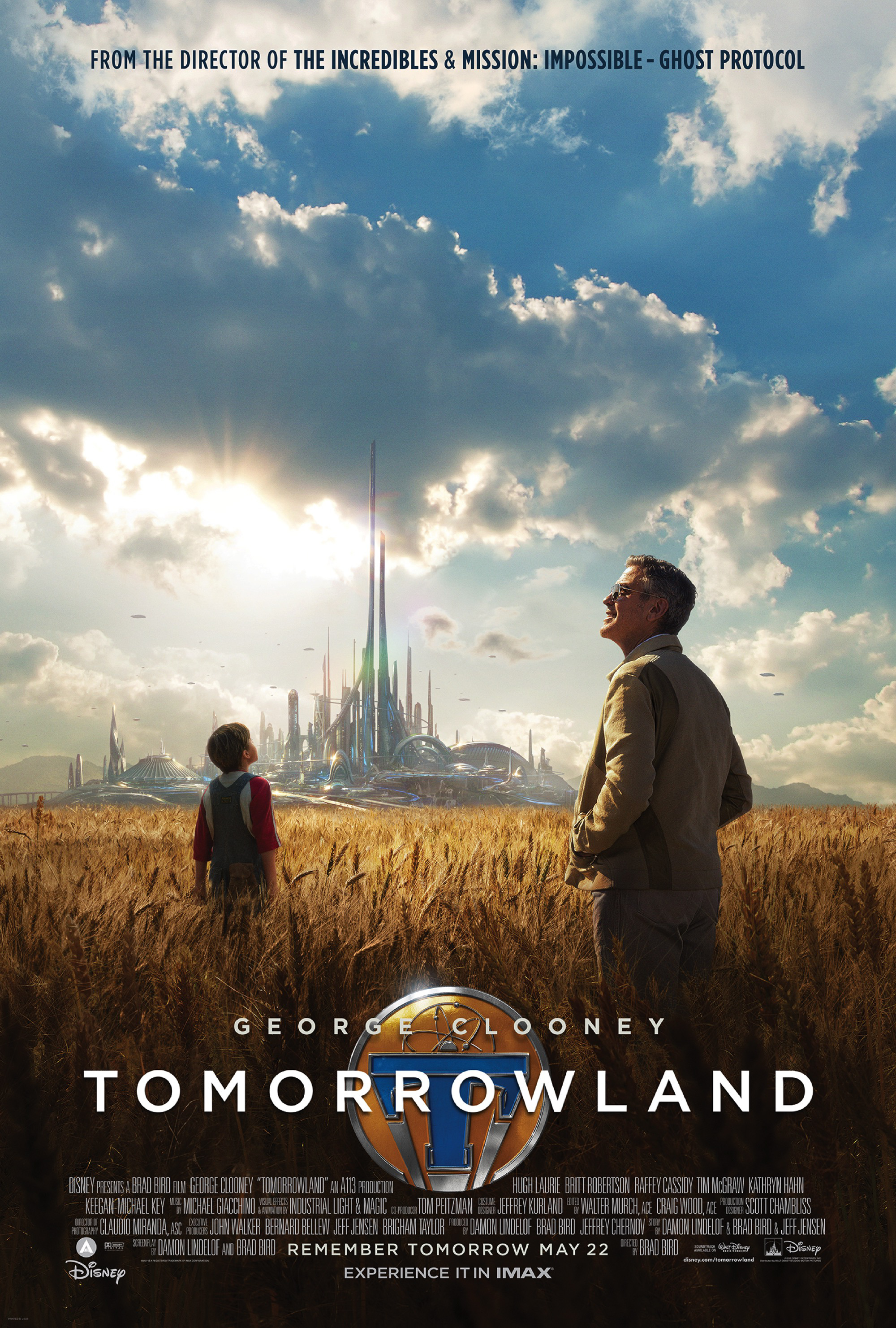 George Clooney Tomorrowland movie Poster