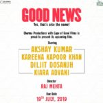 Good News starring Akshay, Kareena, Diljit and Kiara in leading roles