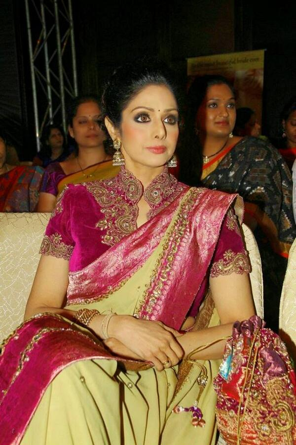 Gorgeous Sridevi Boney Kapoor Attended the GR8 Indian Women Awards in Hyderabad on 24 March 2014.