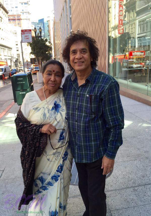 Great Zakir Hussain with legend Asha Bhosle