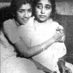Great singer Lata Mangeshkar with her mother