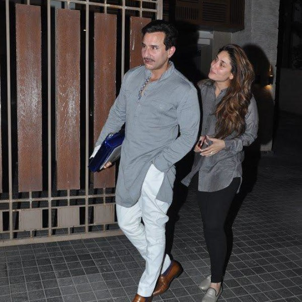 Grey colored Saif Ali Khan and Kareena Kapoor