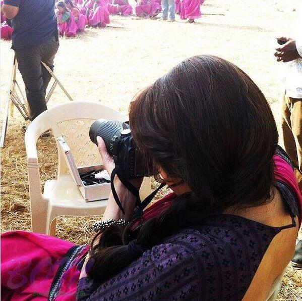 She is the famous Dhak Dhak girl Madhuri Dixit behind camera