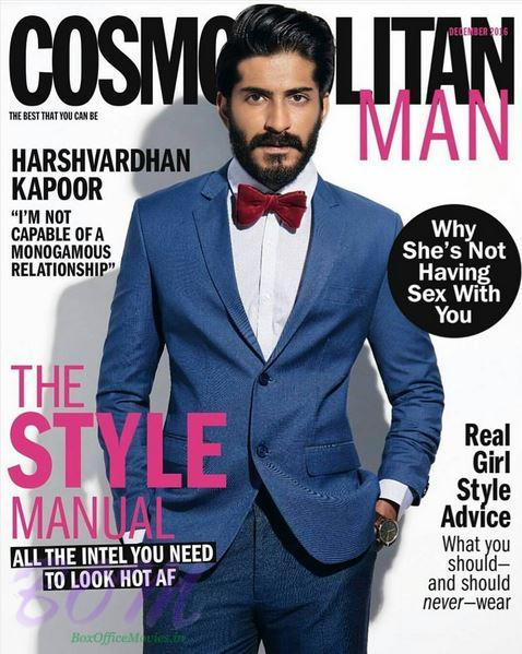 Harshvardhan Kapoor cover boy for Cosmoplotian India Man December 2016 issue