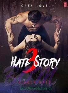 Hate Story 3 movie poster of Zareen Khan and Karan Singh Grover