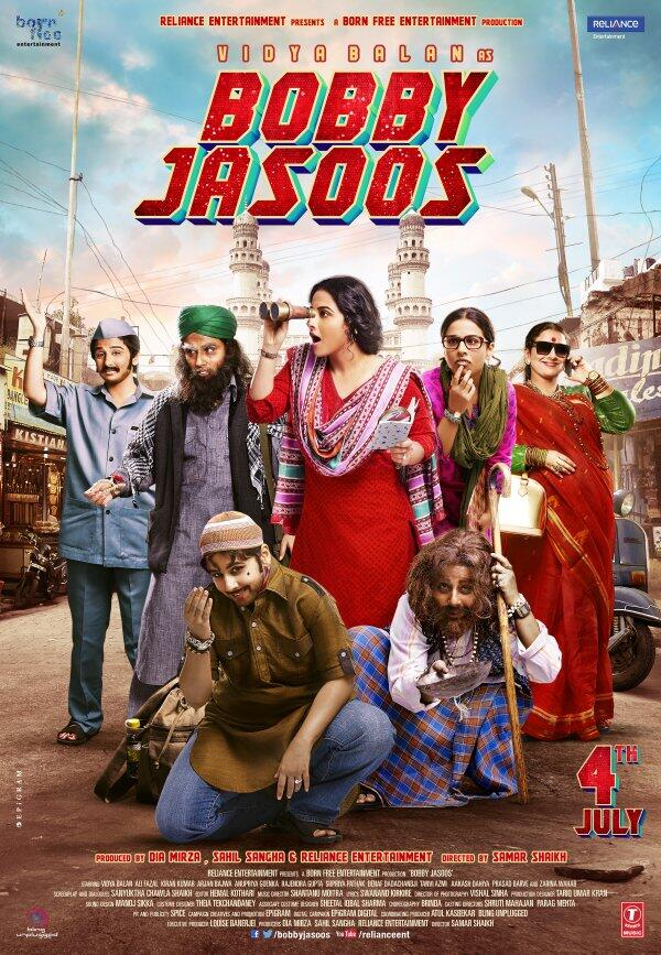 Here is the first poster of Bobby Jasoos starring Vidya Balan. The film releases on July 4.