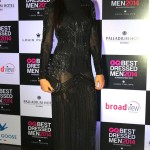 Hot Nargis Fakhri chose a sheer Joshipura Gown at the GQBestDressed party - Looking stunning