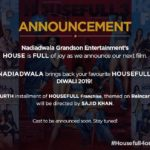 HouseFull 4 to be glittering and whistling movie next year with Akshay Kumar as leading actor
