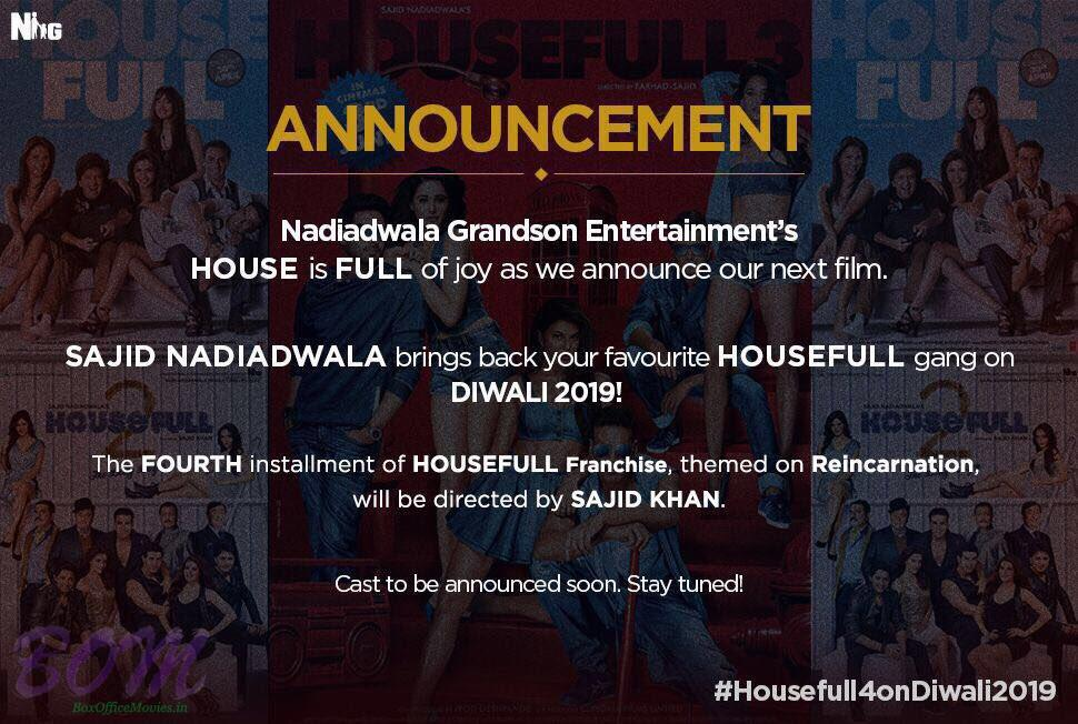 Housefull4 announcement