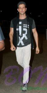Hrithik Roshan airport look in June 2016