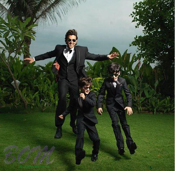 Hrithik Roshan flying moment with his kids