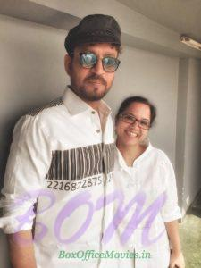 Irrfan Khan with Tanuja Chandra